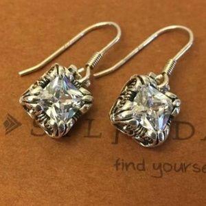 Silpada Uptown Cubic Zirconia Dangle Earrings